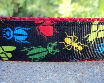 "Sale Dog Collar Bugs Life 1"" wide Quick Release buckle adjustable - No martingale due to limited ribbon"