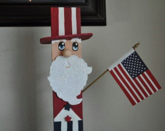 Wooden Uncle Sam