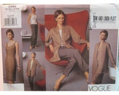 Minimalist Asian Inspired Jacket Pattern, Dress, Top, Pants, Evening Wear, Tom and Linda Platt, Vogue American Designer 2686 Size 12, 14, 16