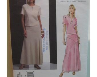 Issey Miyake Top and Skirt Pattern Vogue Designer Original No. 2796 UNCUT Size 12 14 16 (Bust 34, 36, 38, 87, 92, 97cm)