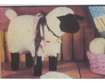 Stuffed Toy Sheep Pattern Simplicity No. 9693 UNCUT Size 16.5x23 in, (42x58.5cm), 13.5x 17.5 in (34.5x44.5cm)