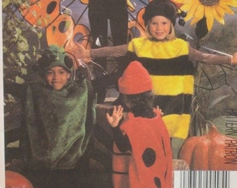 Childs Halloween Costume Pattern Bumblebee Spider Ladybug Butterfly McCalls No. 8781 UNCUT Size 2-4