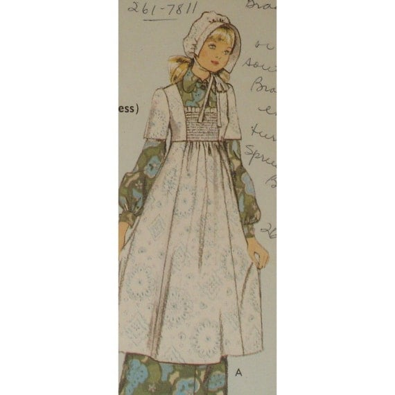 Vintage little house on the prairie pioneer dress by for Laura ingalls wilder wedding dress