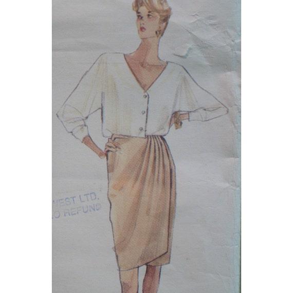 Donna Karan Jacket Wrap Skirt And Loose Fitting Top Pattern