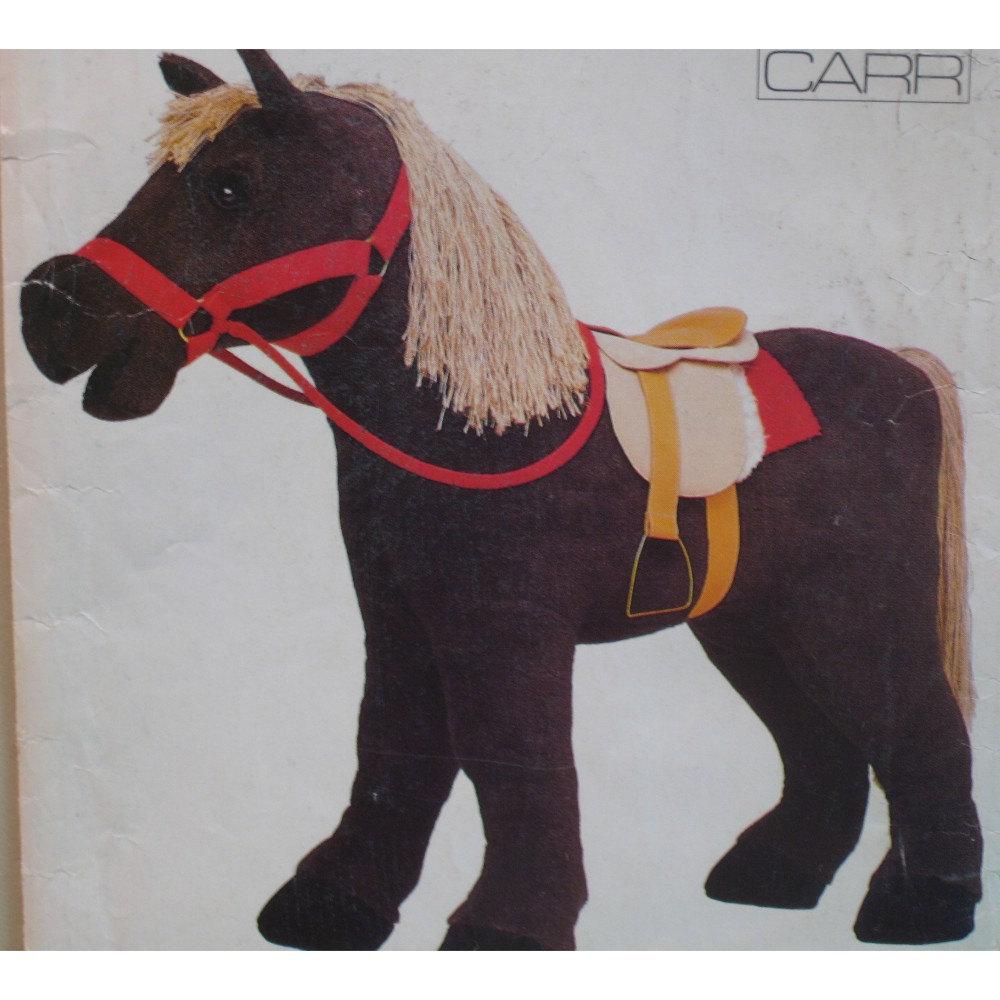 Stuffed Horse Toy : Stuffed toy horse pattern saddle pony vogue no