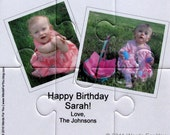 Custom Interactive Foam Puzzle Message Card - Made with Your Photos and Message - Great for Birthdays, Weddings, Invitations and more