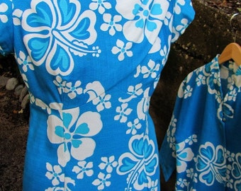 The 1960's Hawaiian Aloha Dress and Matching Blouse