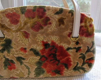 The 1950's Magic Carpet Ride Floral Pocketbook