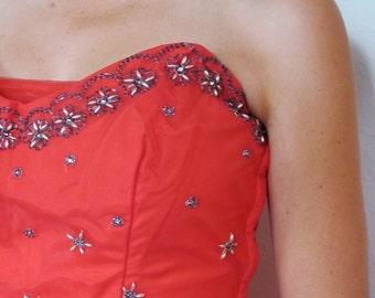 The 1950's Raspberry Pink Emma Domb Evening Dress