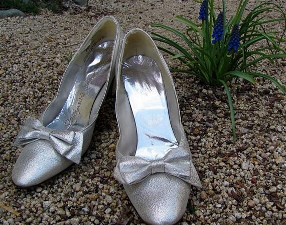 The 1960's Metallic Silver Sweet Steps Mod Shoe