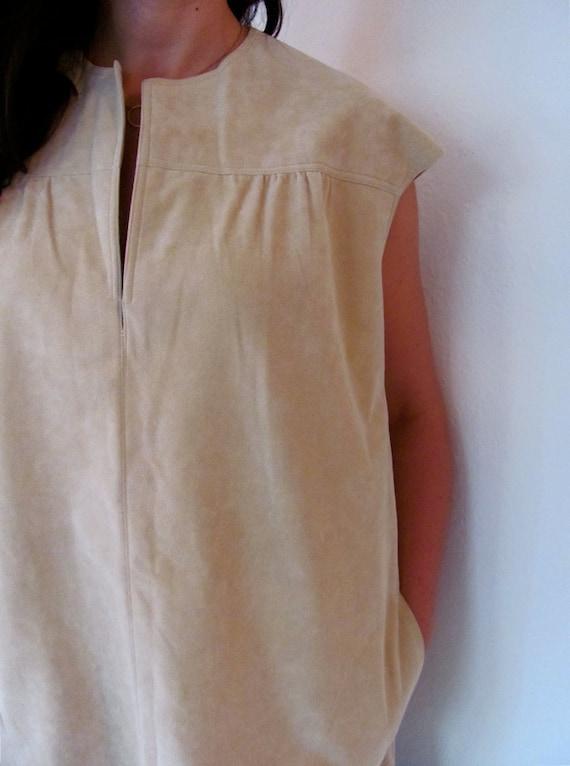 The 1970's Vera Maxwell Ultrasuede Mini-Dress