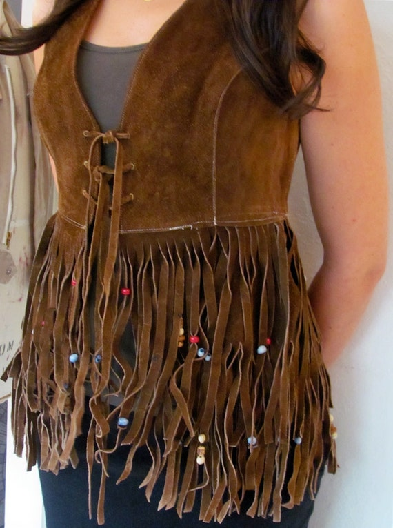 The Carnaby Street Leather Fringed Lady Jane Vest