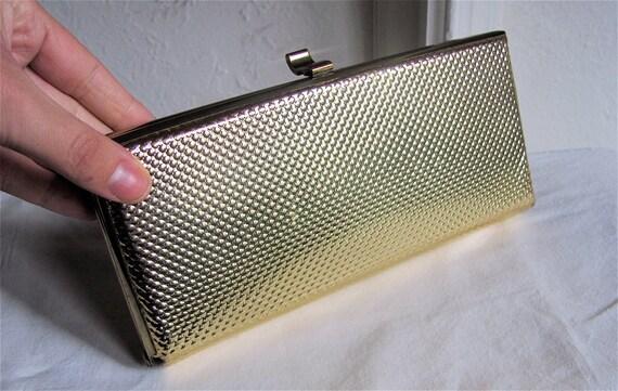 The 1950's Gold Metallic Lysistrata Clutch
