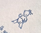 Letterpress Fill-in Baby Announcements with envelopes - Set of 8