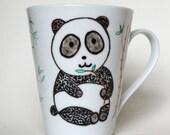 Panda Mug - hand painted