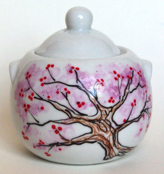Chinese Plum Tree Sugar Bowl