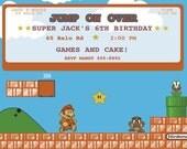 Old School Super Mario Brothers Invite