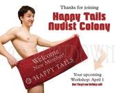 New Member Nudist Colony Gag Postcard