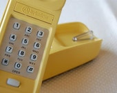 Vintage Trimline Landline Phone Western Electric Bright Yellow and Good Old Fashioned Loud Ring / Good Weapon, too