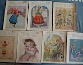 Lot of 7 Needlecraft Magazines 1930s Set of Vintage Ephemera with Lots of Vintage Fashion and Advertising