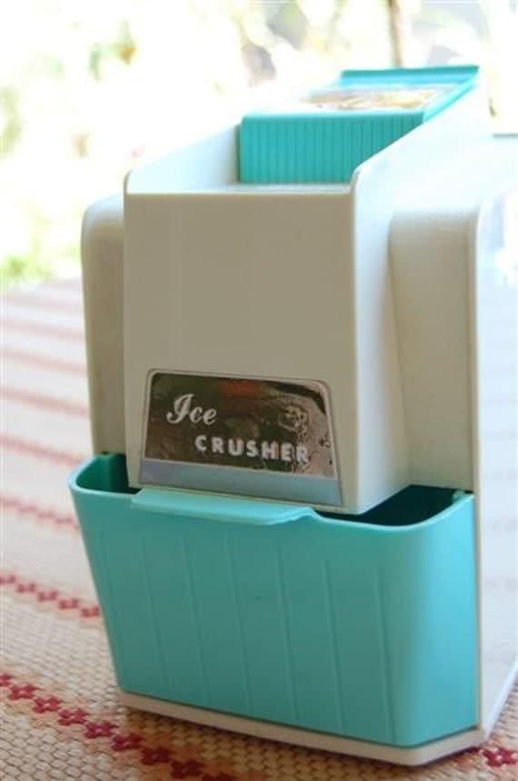 Procter Silex Ice Crusher Vintage Retro Turquoise Aqua