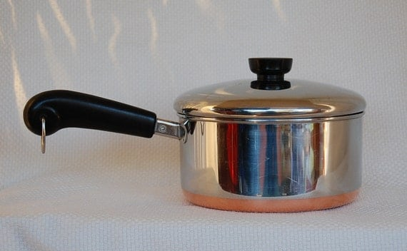Vintage Revere Ware 1801 Copper Clad Stainless Steel 2 Quart