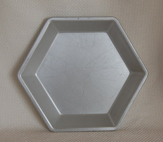 Vintage Hexagon Pie Pan Six Sided Pie Plate By Mirro