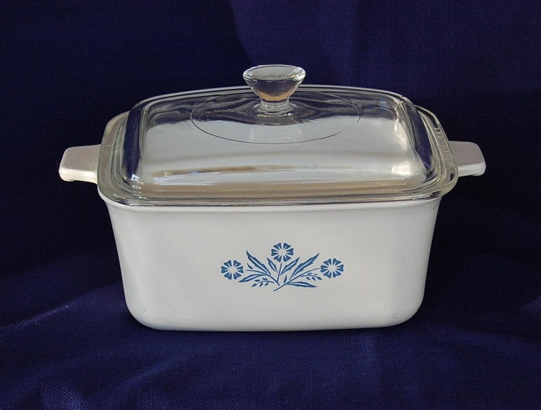 Vintage Corning Ware Cornflower Blue Rectangular Covered