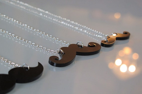 Moustache Necklace - Proceeds go to Charity