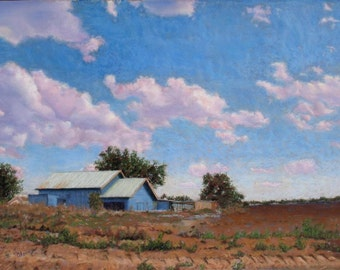 West Texas Sky pastel painting