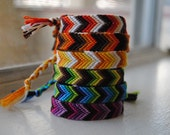 RESERVED for Julie H. - Chevron, Arrow Woven Bracelets