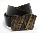 Brass belt buckle - anidem
