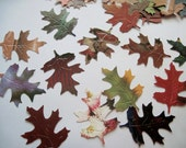 Custom listing for Kate - 150 hand punched leaves - Embellishments