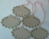 Upcycled Cardstock Tags for cards, scrapbooks, gifts - embellished with glitter dots