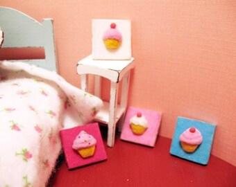 Fuzzy Cupcake Wall Hanging