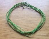 Destash green suede necklace cords