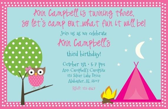 Owl Birthday Invite for best invitation layout