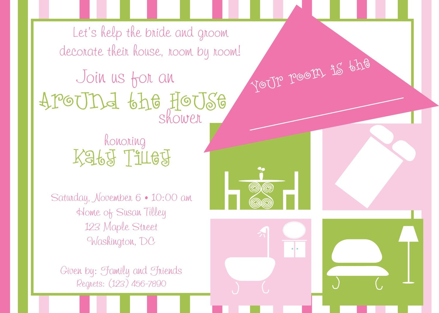 Around the House Shower Invitation by lilypadboutiquestore ...
