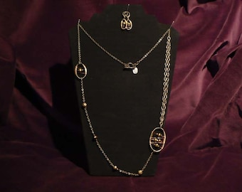 Oval Orbit - Pearls and Copper
