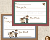 PRINTABLE Cowboy Fill-in-the-Blank Thank You Cards #523