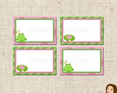 PRINTABLE Girl Frog Label Tents #530