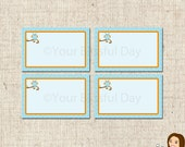 PRINTABLE Boy Owl Party Label Tents #561