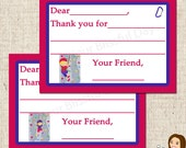 PRINTABLE Boy Rock Climbing Fill-in-the-Blank Thank You Cards #578