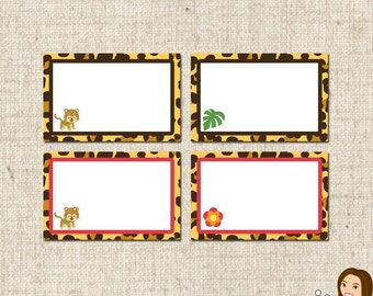 PRINTABLE Leopard Label Tents (Boy or Girl) #546
