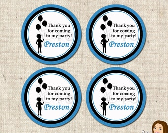 PRINTABLE Boy Silhouette Favor Tags (Personalized) #582