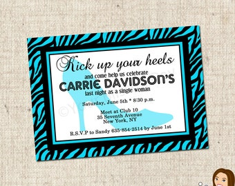 PRINTABLE Heel Bachelorette Party Invitations (Many colors to choose from) #806