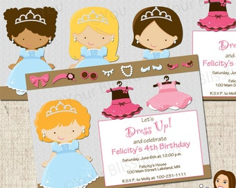 PRINTABLE Dress Up Girl Party Invitation (Character of your choice) #525