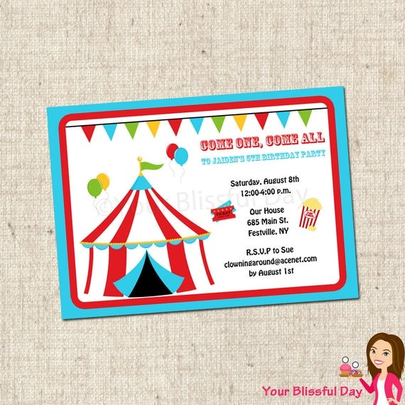 Genius image with regard to printable carnival birthday invitations