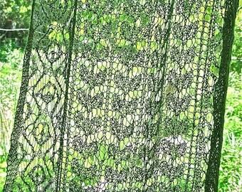Mossy Alpaca Shawl