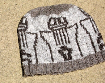 natural wool hat Anasazi inspired people